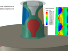 Multiscale simulation of micropillar compression test