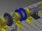 Brake test stand CAD drawing